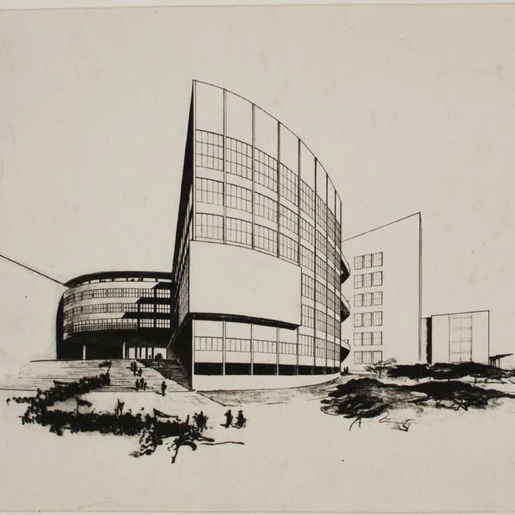 Bauhaus master walter gropius submission to the palace of for Pool design dessau