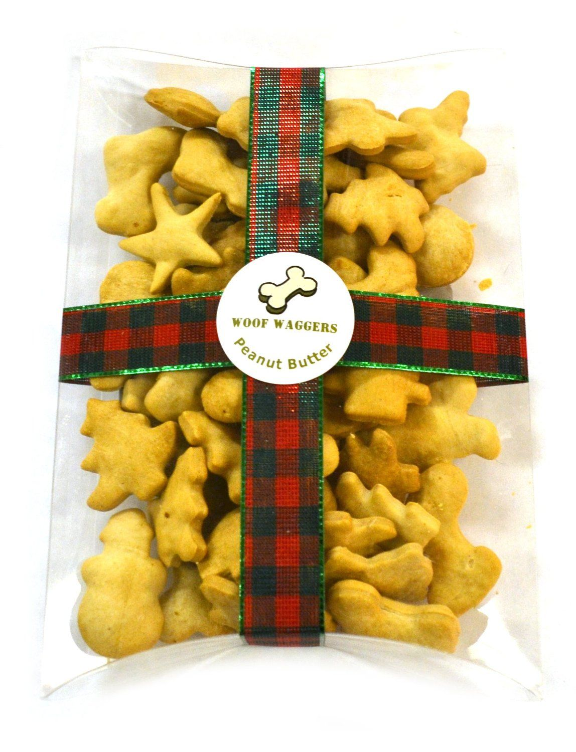 Christmas Peanut Butter Dog Treats, All Natural, Made in Usa, 5 Ounces