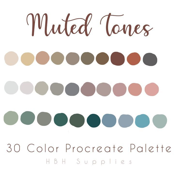 Muted Tones Procreate, iPad Procreate, Procreate Palette, Instant Download