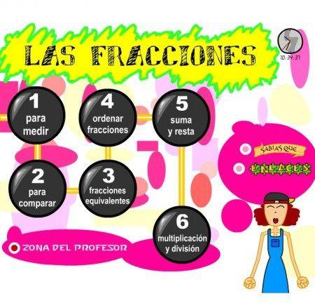 Fracciones Segundo Y Tercer Ciclo Primaria 3º 4º Y 5º 6º Ejercicios Recursos Y Actividades Matematicas Fracciones Fracciones Matematicas