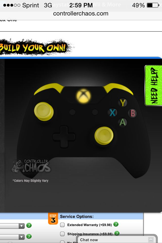 Xbox One Controller Black Yellow And White Not Shown Xbox One