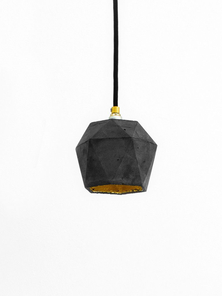 Loves this item station road pinterest diamond pendant the triangulated hanging lamp is cast from pigmented dark gray concrete it combines noble gold with rough concrete into a timeless and arubaitofo Image collections