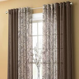 Brynn Sheer Paisley Grommet Panel Sears Curtains Living Room