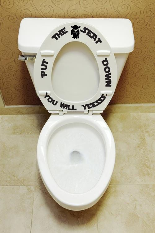 Put The Seat Down Yesssss Toilet Seat Decals Bathroom Kids Decor