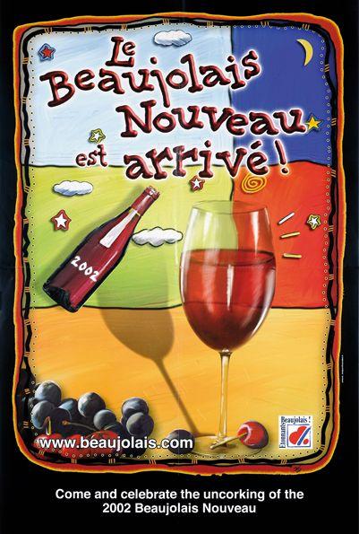Affiche Beaujolais Nouveau - 2002