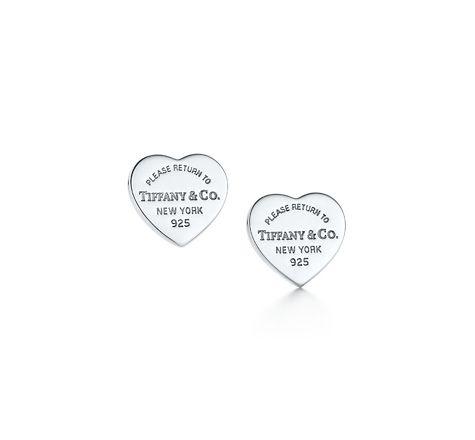 Return To Tiffany Mini Heart Tag Earrings