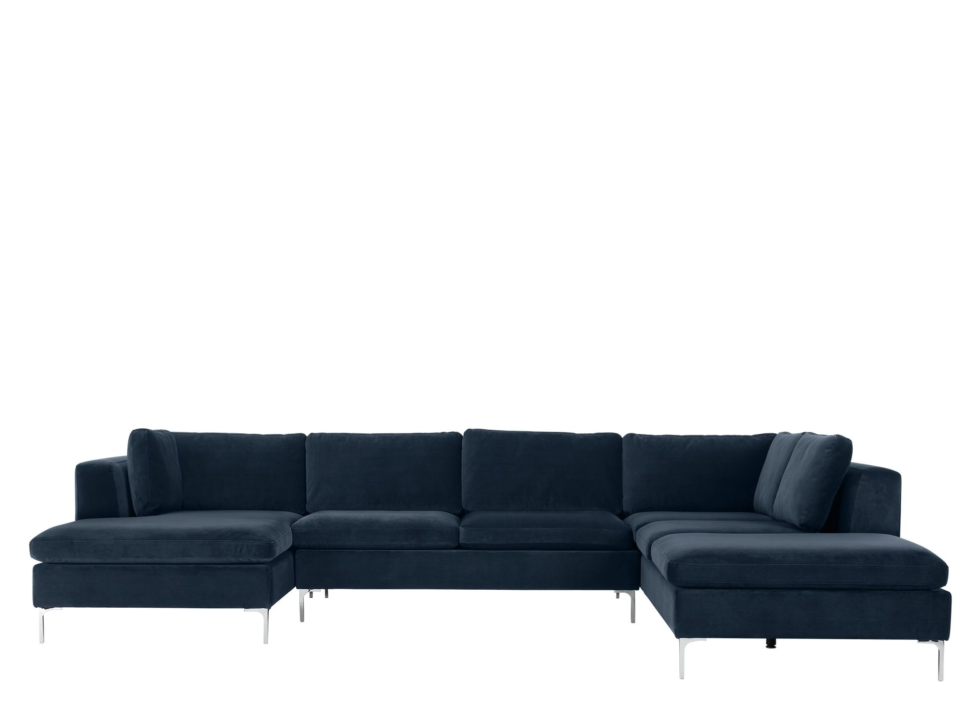 Monterosso Right Hand Facing Corner Sofa Sapphire Blue Velvet Avec Images Canape Angle Canape Angle Convertible