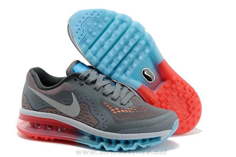 621078 319 Womens Nike Air Max 2014 Grey Red Jade Shoes