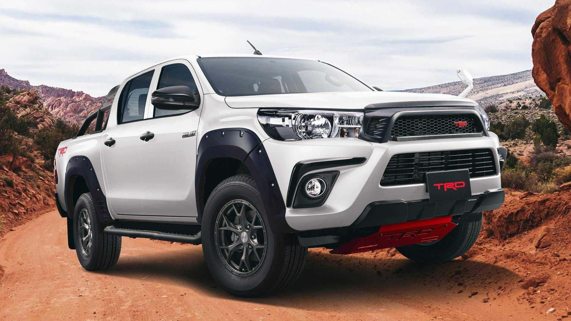 The Toyota Hilux Black Rally Edition Is A Trd Truck Done Right Toyota Hilux Toyota Toyota Pickup 4x4