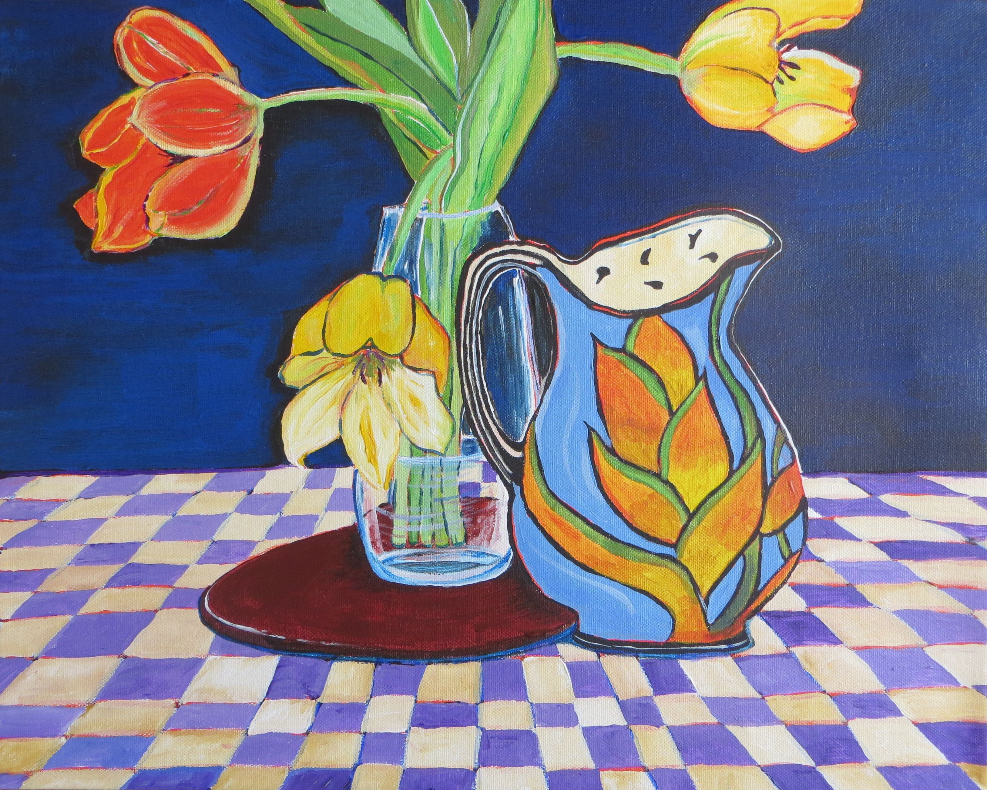 """Tulip New Day- 20x16"""" by SG Criswell"""