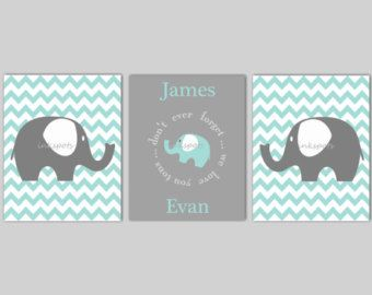 Baby Elephant Nursery Bedding Decor Elephant by inkspotsgallery