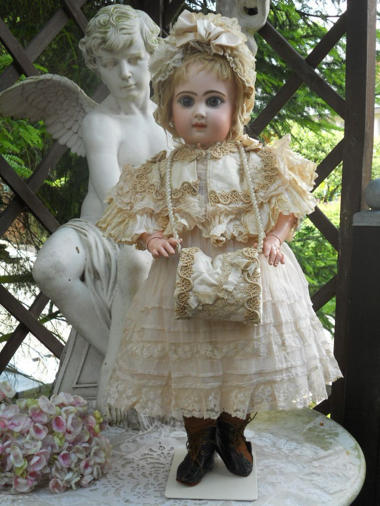 ~~~ Beautiful French Bisque BeBe Reclame by Jumeau ~~~ from whendreamscometrue on Ruby Lane
