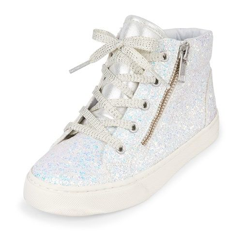 fbc61b2161bd Girls Glitter Hi-Top Rockstar Sneaker | Products in 2019 | Sneakers ...