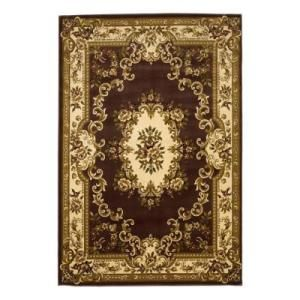 Kas Rugs Aubusson Plum/Ivory 7 ft. 7 in. x 10 ft. 10 in. Area Rug  on  Daily Rug Deals