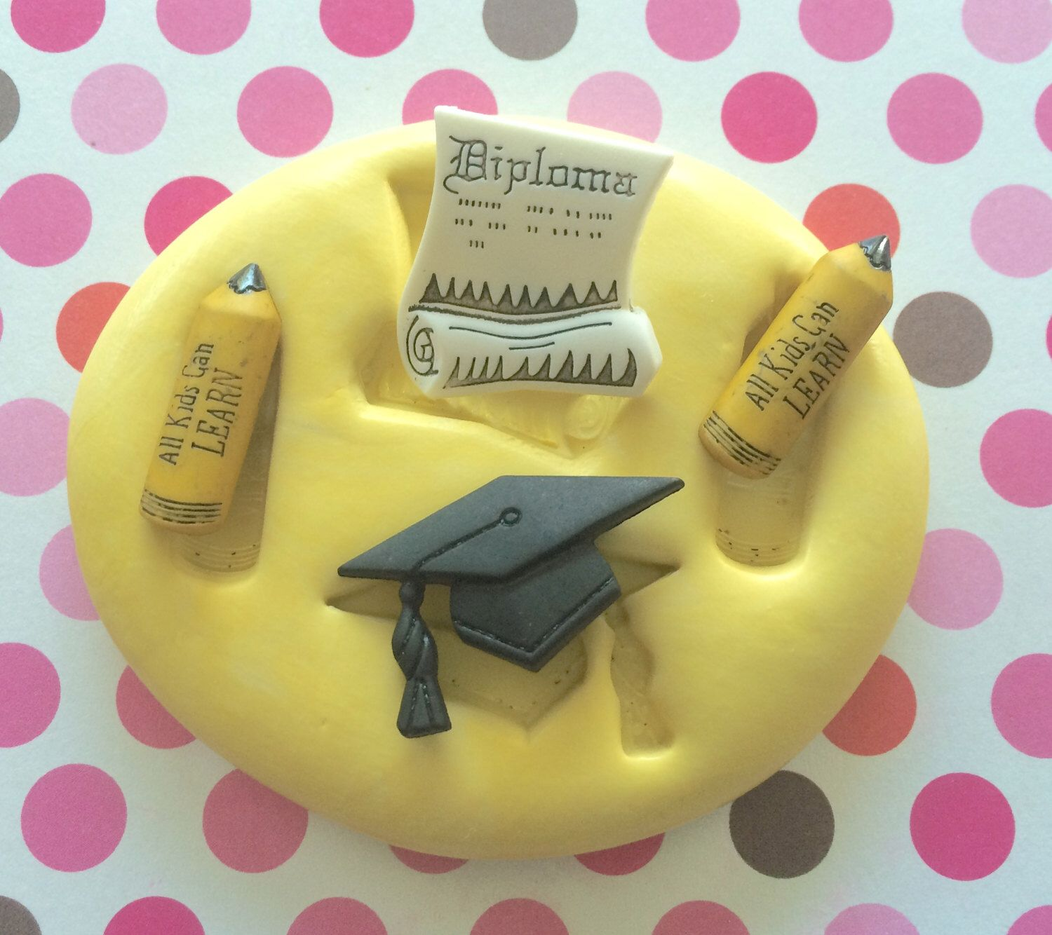 Graduation Hat Mold Diploma Pencil Silicone Mold Diploma Mold Fondant Mold Cupcake Topper Cake Supply Craft Hat Mold School Mold Fondant Molds Friend Craft Silicone Molds