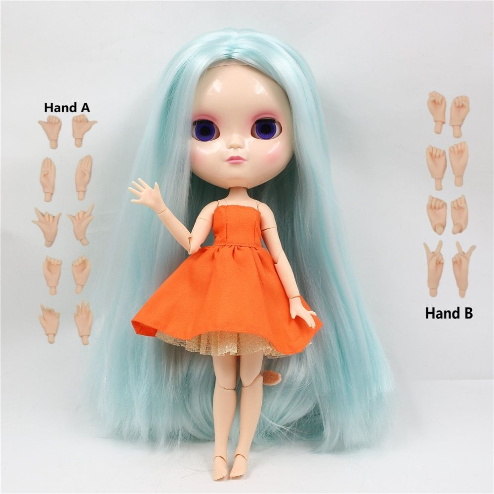 Classical Lovely Two Tone Pale Gold Hair Blythe Nude Doll