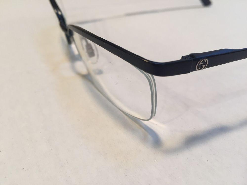 732e19ef0b Gucci 2886 H7J Matte Blue Metal Eyeglasses Prescription Glassees NEW
