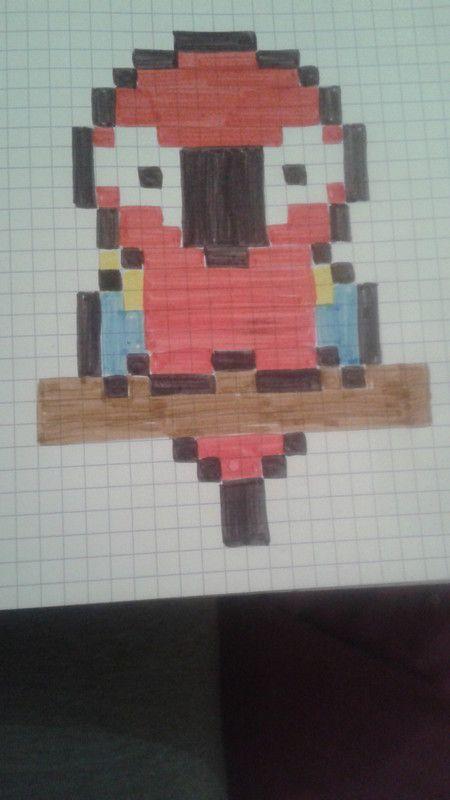 Perroquet pixel art pinterest perroquets dessin - Dessiner un perroquet ...