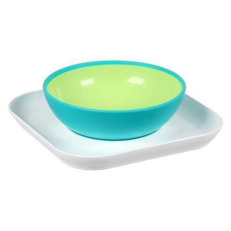 MAM Набор тарелок для детского питания Baby's  bowl& plate, с 6мес  — 659р.  Набор тарелок Baby's bowl& plate Mam с противоскользящим покрытием поможет малышу самостоятельно научиться кушать ложкой. Мисочка надежно защищена от опрокидывания, так как вставляется в имеющееся на плоской тарелке-подставке углубление.  Особенности:  • эффект постепенного обучения  • прочная тарелочка-подставка для мисочки Baby's Bowl;  • возможность дополнительного использования – тарелочку теперь можно…