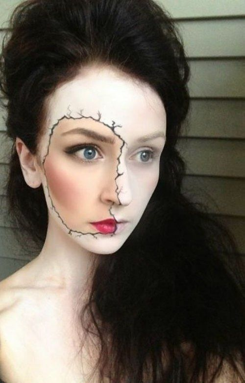 65 Halloween Makeup Ideas to Try This Year Sally, Face and Makeup - halloween makeup ideas easy