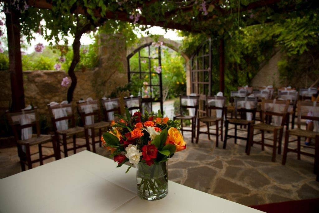 Vasilias Traditional Inn Cyprus Paphos Weddings Made Easy Paphos Floral Centerpieces Traditional