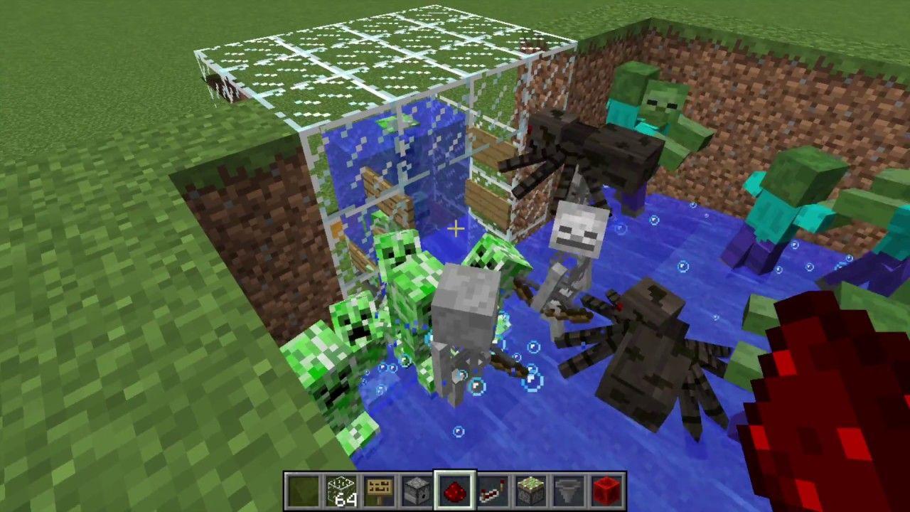 Survival In Minecraft How To Build Mob Farm Creepers Farm Tnt Farm And Gunpowder Farm Minecraft Minecraft Farm Minecraft Projects
