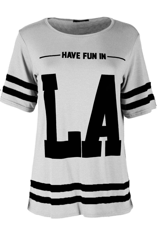 The Celebrity Fashion Womens New York American Varsity Baseball Oversized Top Plus Size Baggy T Shirt