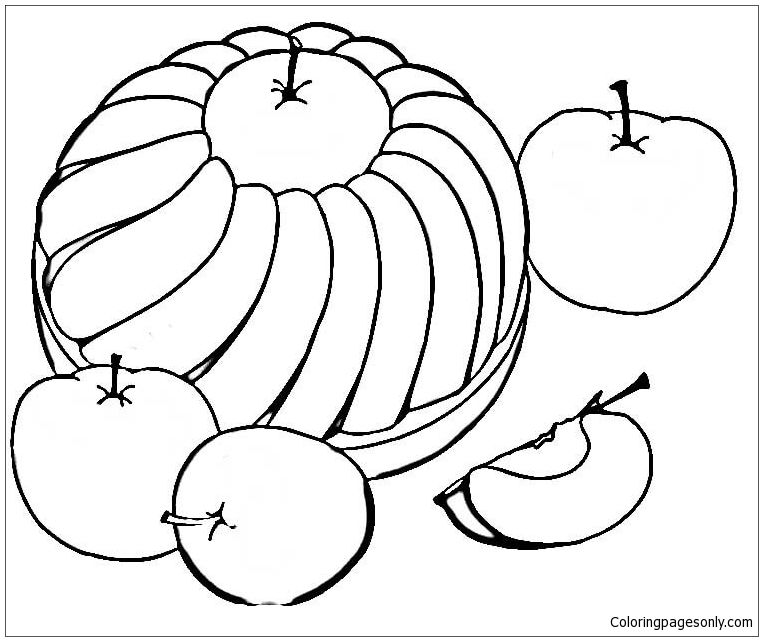 Sweet Apple Pie Coloring Page