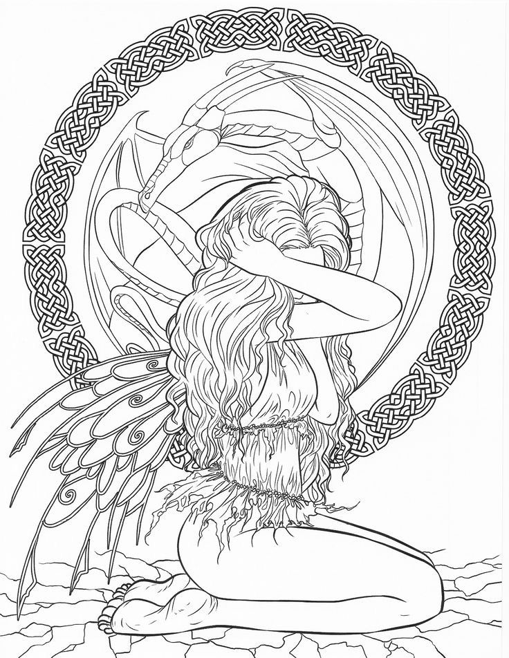Pin by Tena KerrLund on Coloring for Adults Fairies