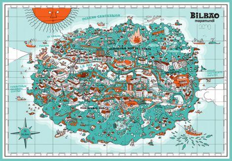 Mapa De Bilbao España.Pin En Mapas
