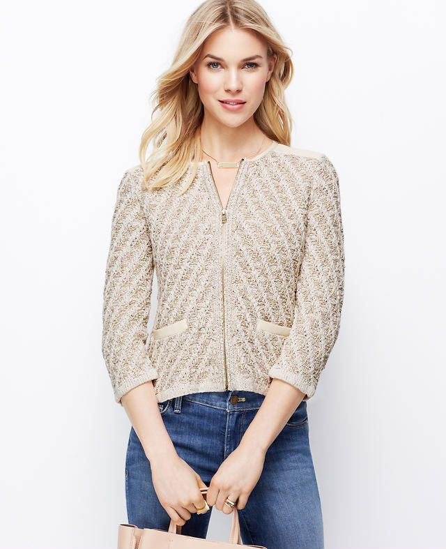 Marled Sweater Jacket | Ann Taylor