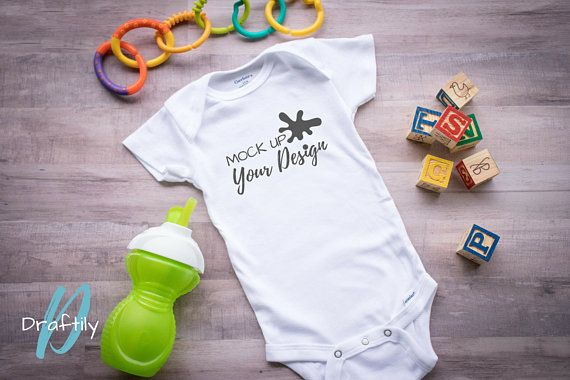 f82c75ef5 INSTANT DOWNLOAD<< GERBER ONESIE WHITE SHORT SLEEVE MOCKUP styled stock  photo on wooden backdrop