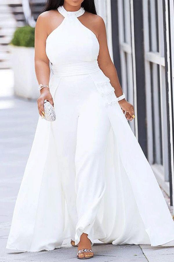African Fashion Western Full Length Patchwork Plain Slim Women S