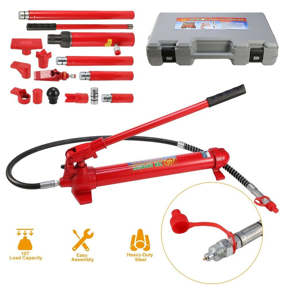 Ebay Advertisement 10 Ton Capacity Porta Power Hydraulic Jack Ram Pump Auto Body Frame Repair Tool Auto Body Car Repair Service Ram Pump