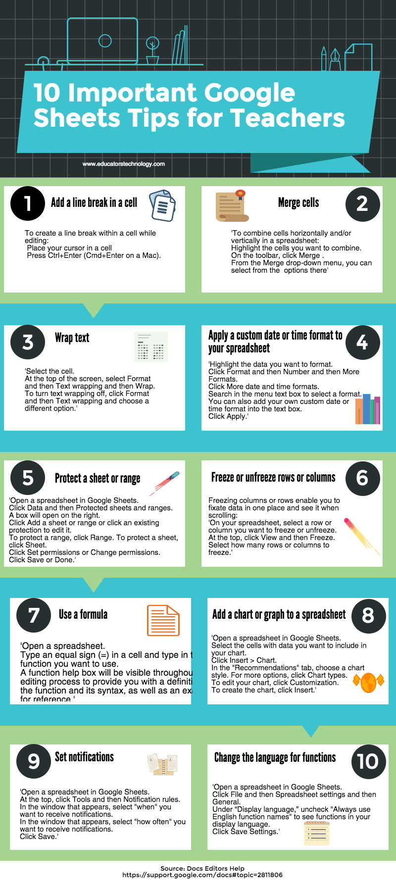 10 Important Google Sheets Tips for Teachers Google