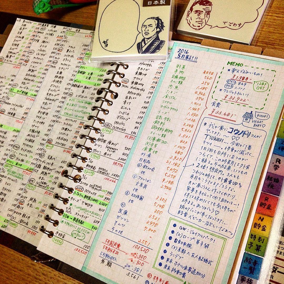 3 メモ付きで記載 家計簿 書き方 家計簿 づんの家計簿