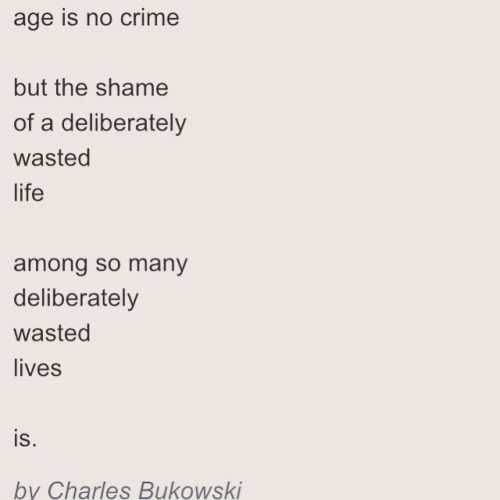 Deliberately Wasting Your Life Is A Crime Charles Bukowski Bσя