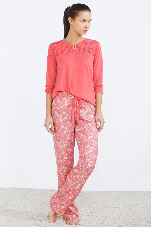 Women´secret - Pijama largo floral  c67584d33