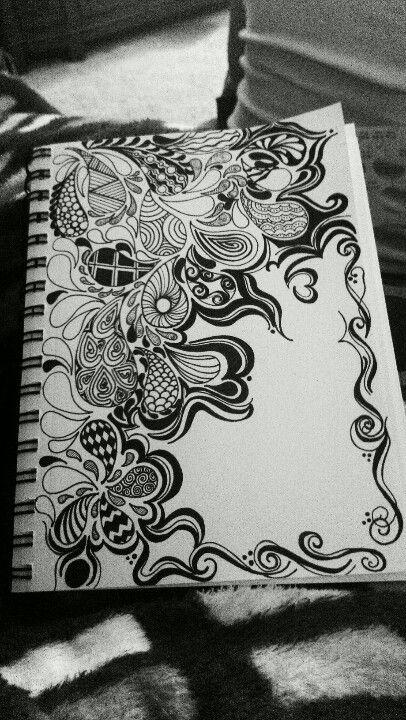 Zentangle Arte Com Rabiscos Arte Fixa E Desenhos De Caneta