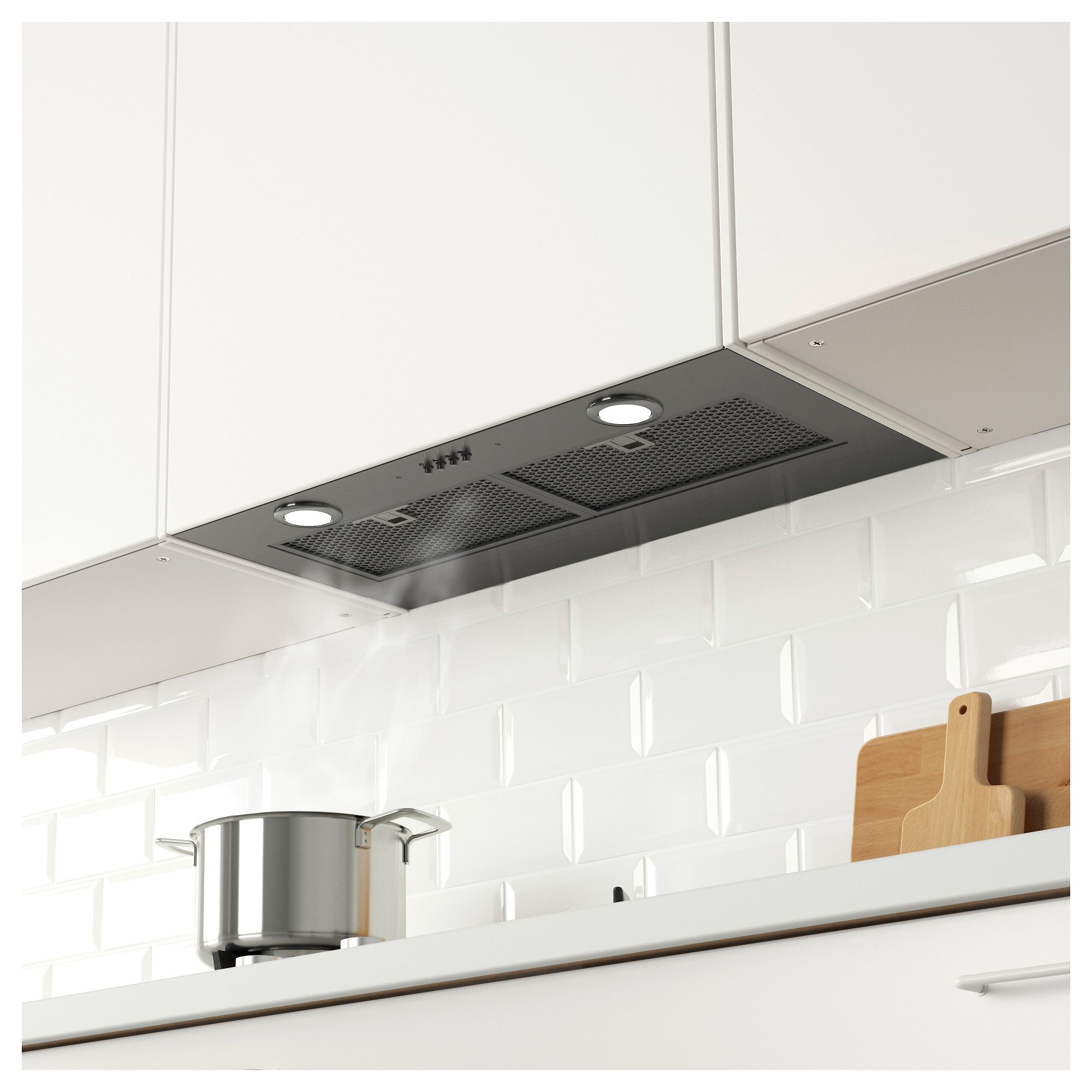Eventuell Built In Extractor Hood Stainless Steel Extractor Hood Clean Kitchen Cabinets White Modern Kitchen