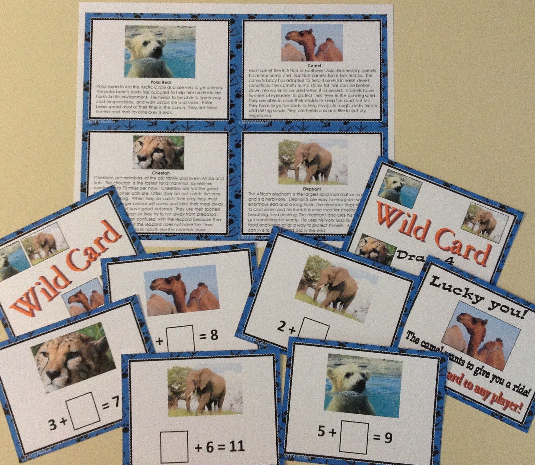 Zoo Animals You Know Addition Game Students Reinforce