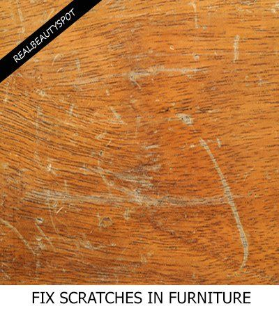 How To Fix Scratches on Wood Furniture | Cleaning agent ...