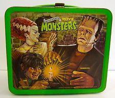 Vintage 1979 Universals Movie Monsters Lunchbox  Frankenstein Igor Dracula Etc