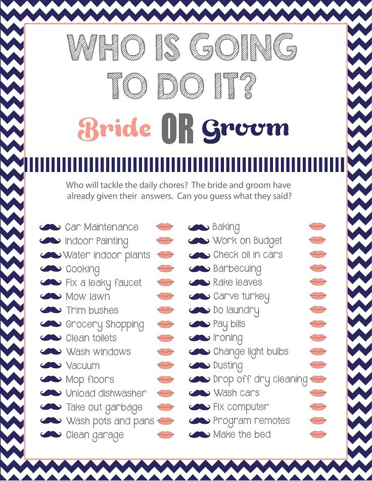 Who Is Going To Do It Bridal Shower C