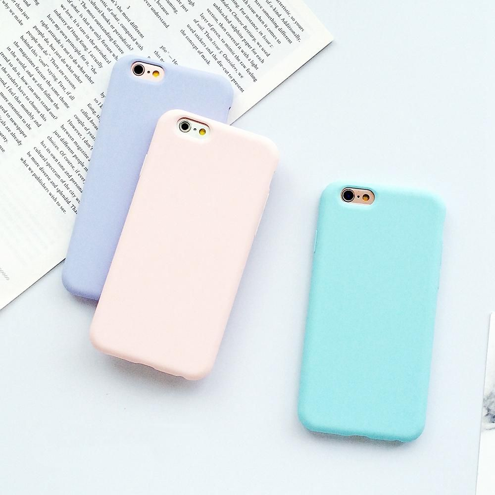 c477626b8 Compatible Brand: Apple iPhones Design: Plain,Matte,Cute Type: Fitted Case  Features: Macaron colors, shockproof, soft matte summer style Size: 4.7
