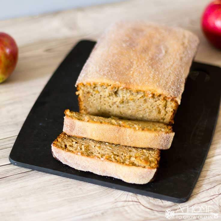 This apple cider donut bread recipe is a delicious twist on a New England fall classic! A perfect breakfast treat that will remind you of autumn all year!