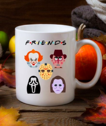 Horror Movie Mug, Halloween Coffee Mug, Scream Mug, It Mug, Mike Myers, Jason, Freddy Krueger, Scary Movie Mug, Fall Mug