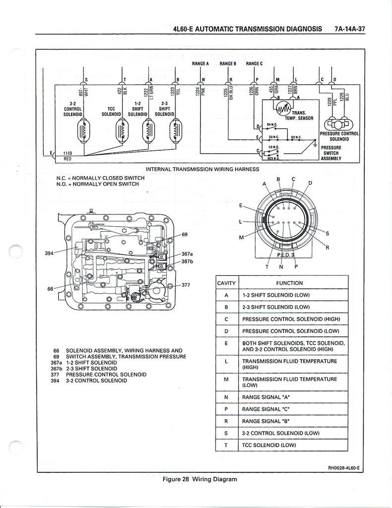 4l60e solenoid wiring diagram and 4l60e transmission | transmission, chevy  transmission, wire  pinterest