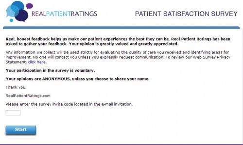 Real Patient Ratings Guest Satisfaction Survey Www