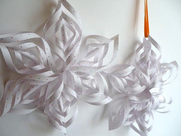 Patron imprimer pour des flocons en papier ou des fleurs si on utilise du papier color - Flocon de neige en papier a imprimer ...